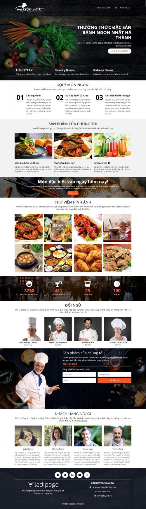 Giới thiệu nhà hàng Restaurant