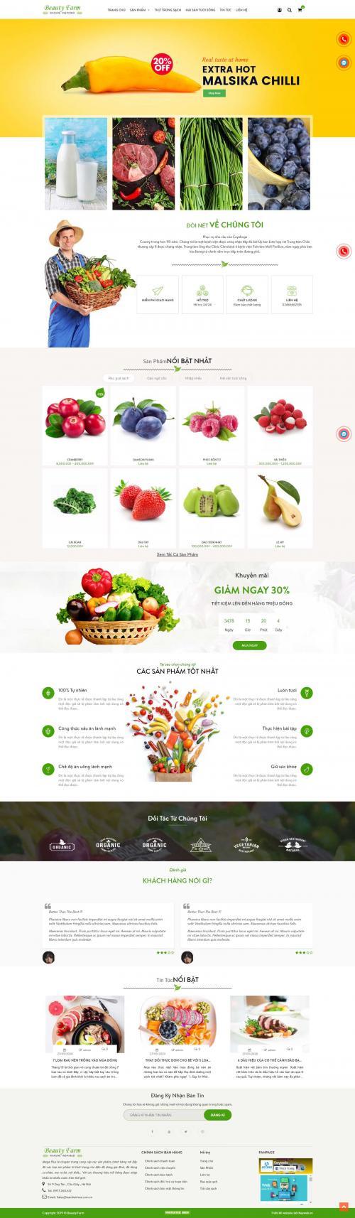Thực phẩm sạch Beauty Farm