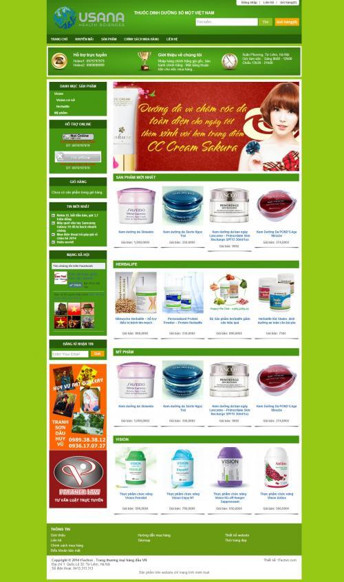 Thiết kế Website Sức khỏe & thực phẩm-1