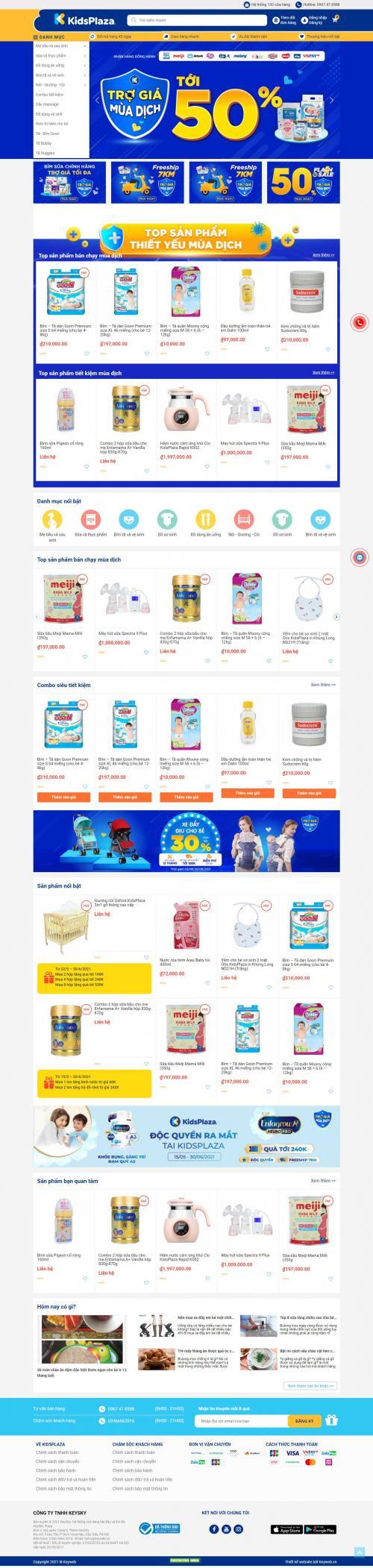 Bỉm Sữa Mẹ Và Bé Kidsplaza