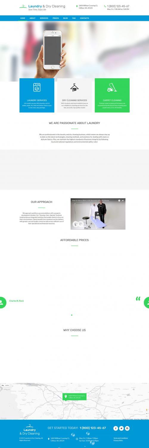 Website Giặt là quần áo